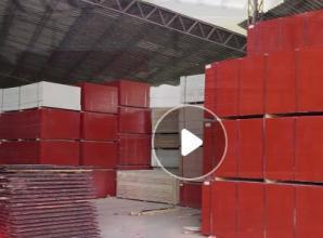 竹胶板生产流程